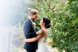 bride and groom by Hertfordshire wedding photographer