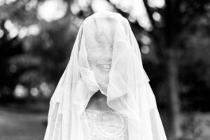 flowergirl in veil