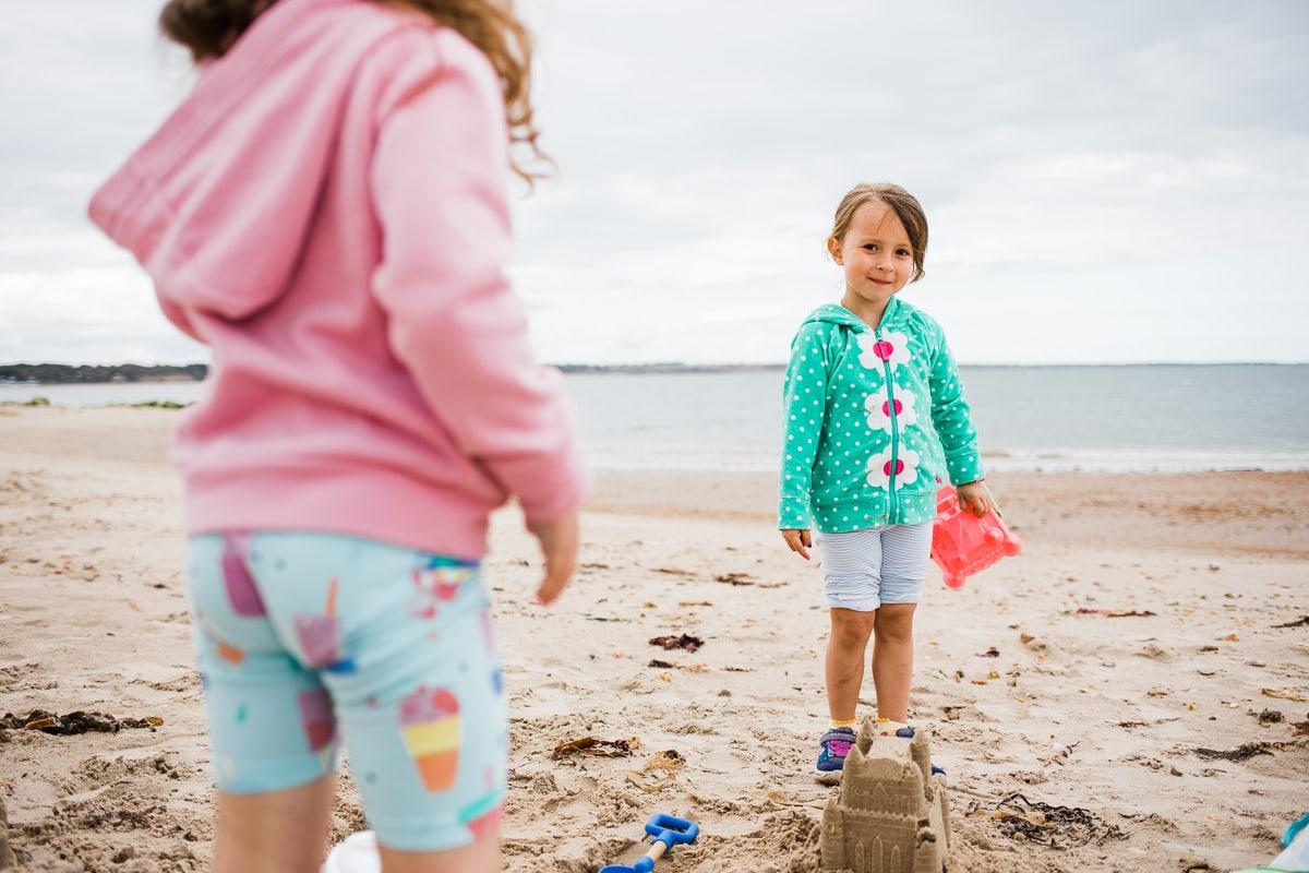 sandcastles at Mudeford