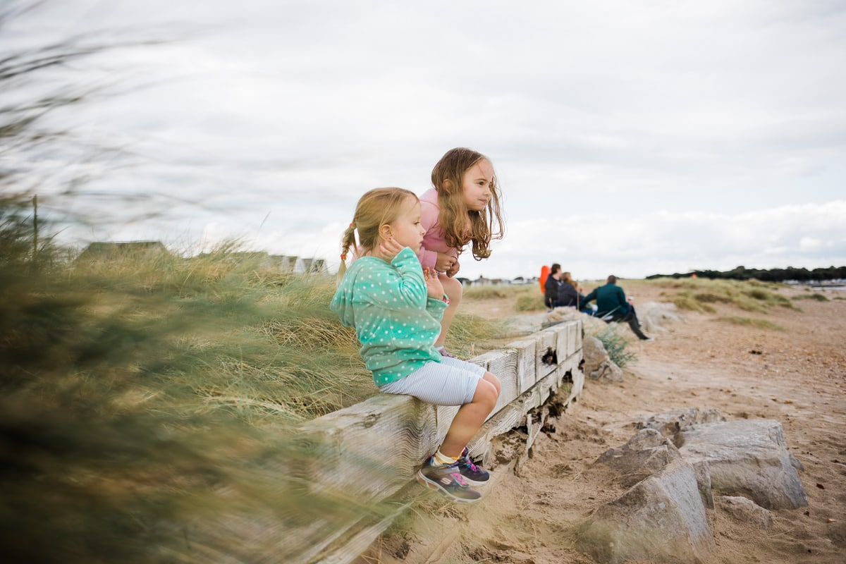 Girls at Mudeford beach
