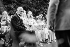 Guests reacting to ceremony speech