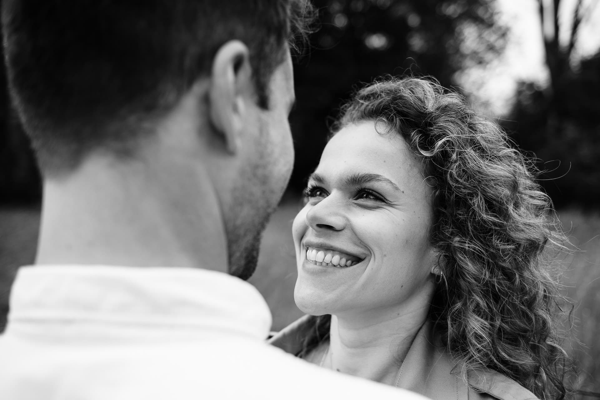 black and white engagement shoot
