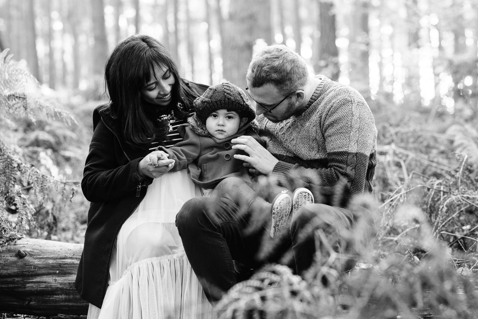 family in the woods near Shefford