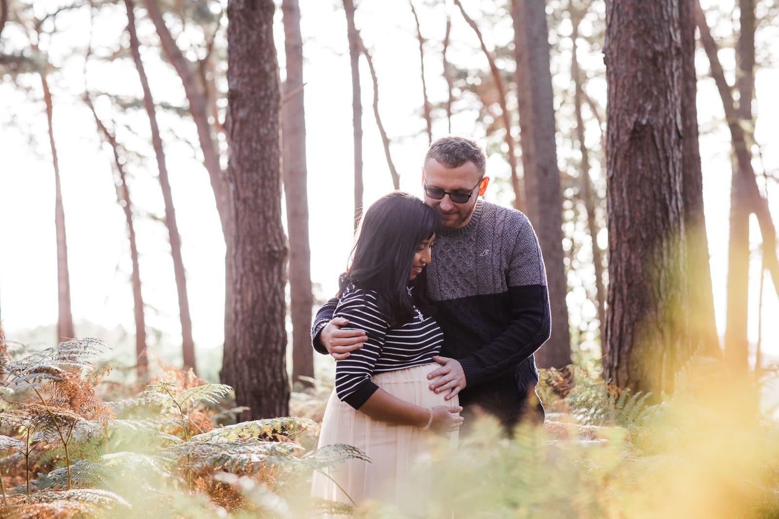 couple in Rowney Warren woods